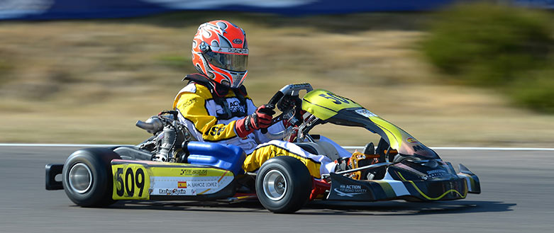 Piloto de karting Alejandro Lahoz López