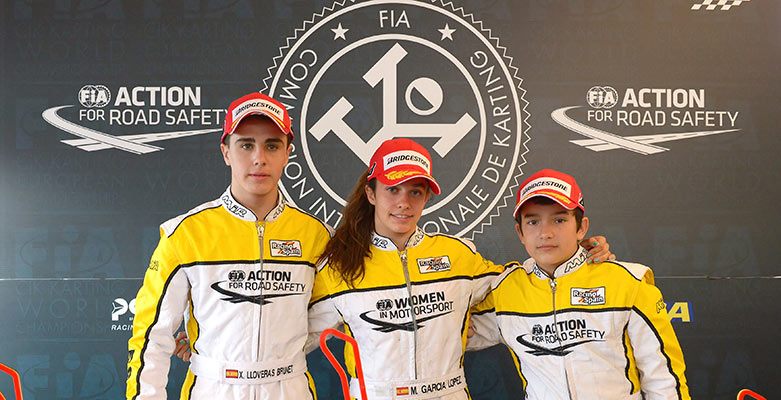 Jóvenes pilotos de karting españoles